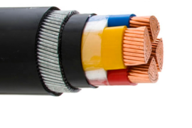 Multipolar copper and aluminum cables, PVC or XLPE insulated, and plastic-coated, armed with two strips of ordinary or galvanized steel