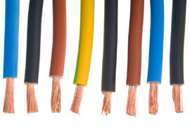 Copper wires (solid or stranded) and PVC insulated